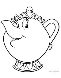 beauty and the beast coloring pages 4 disney coloring book