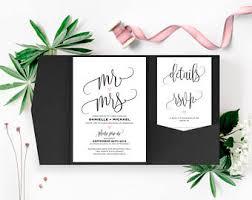 Wedding Invitation Pocket Pocket Invitations Etsy