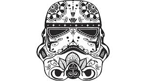 stormtrooper sugar skull t shirt by starwars design by humans