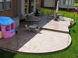 Backyard Stamped Concrete Ideas Stamped Concrete Design Ideas Home Design Ideas