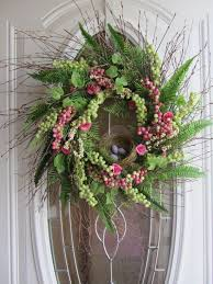 spring wreaths for front door spring wreath easter wreath front door wreath bird nest