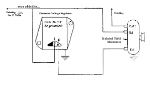 wiring wiring diagram of external regulator alternator wiring
