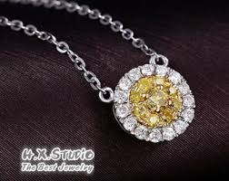 yellow diamond necklace images Yellow diamond etsy jpg