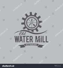 old water mill restaurant concept vector stock vector 232201186