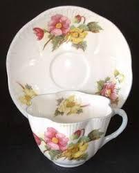 vintage shelley saucer fine bone china england begonia 13427