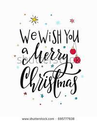 we wish you merry happy stock vector 695777938