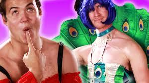 boyfriends try their girlfriends u0027 halloween costumes youtube