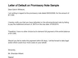 letter of default