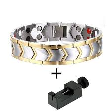 energy bracelet magnetic images Stylish bio energy magnetic therapy bracelet for men tbrm030e jpg