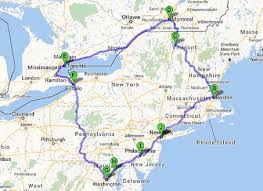 map of eastern usa and canada road map of eastern canada travel maps and major tourist