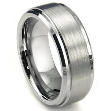 Men Wedding Ring by 8mm High Polish Matte Finish Men U0027s Tungsten Ring Wedding Band