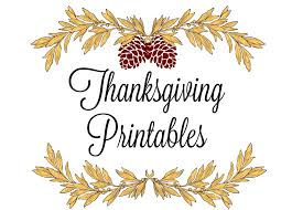 printable thanksgiving place cards menus