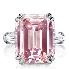 rings pink stones images Best engagement rings online italo three stone emerald created jpg