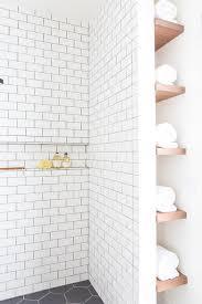 Next Bathroom Shelves Vertical Floating Towel Shelves Next To Shower Transitional