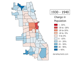 Chicago Demographics Map by Eighty Years Of Chicago U0027s Population Annotated U2013 City Notes