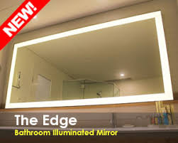 Bathroom Mirrors With Led Lights by Bathroom Lighted Mirror With Led Lights Clearlight Designs