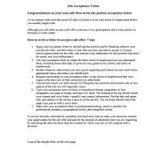 job offer acceptance letter archives sample letter