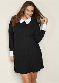 plus sweater dress plus size collar detail sweater dress venus