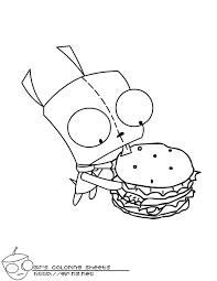 invader zim printable coloring pages coloring home