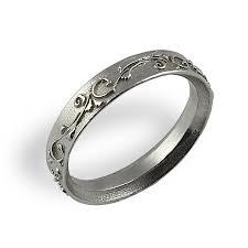 ornament wedding band white gold unique wedding ring vintage