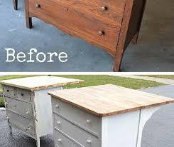 dresser kitchen island turn a dresser into a kitchen island