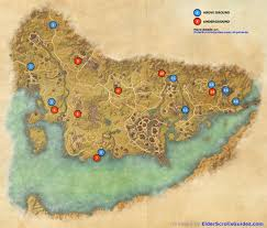 Bal Foyen Treasure Map Stormhaven Skyshards Map Elder Scrolls Online Guides