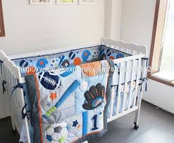 Baby Crib Bed Sets 8 Pcs Baby Crib Bedding Sets Baseball Sports Baby Boy Sports Crib