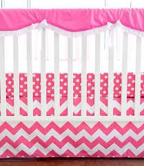 pink chevron crib rail guard set chevron crib bedding pink