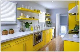 Yellow And White Kitchen Ideas Kitchen Enticing Yellow Kitchen Feat White Countertop Also Wood