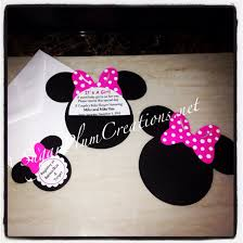 40 minnie mouse custom baby shower invitations minnie mouse