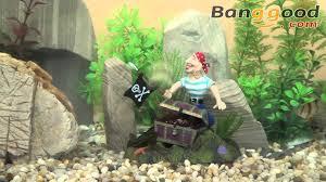 pirate with treasure air aquarium decoration ornament 0 98