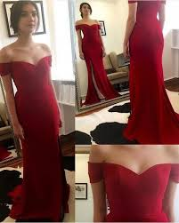 red off the shoulder prom dresses 2017 cheap evening dress for