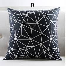 Modern Cushions For Sofas Geometric Black And White Decorative Pillows For Living Room