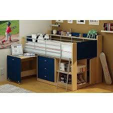 Kids Loft Bed With Storage Amazon Com Kids Loft Twin Bed With Desk Bedroom Furniture Navy