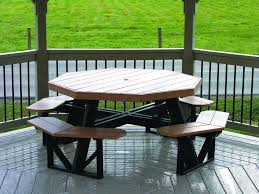 Build Your Own Octagon Picnic Table by The Advantageous Octagon Picnic Table Home Furniture And Decor