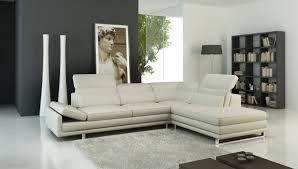 958 modern off white italian leather sectional sofa