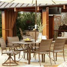 patio table and chairs with umbrella hole outdoor dining furniture with umbrella patio sets with umbrella
