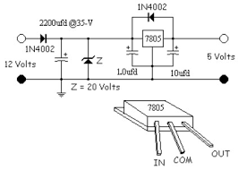 simple 5 volt power supply circuits and diagrams