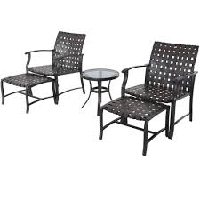 Patio Chairs With Ottomans by Outdoor Patio Furniture Set Wicker Table Chairs Ottoman Footrest