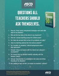 ascd book the teacher 50 critical questions for inspiring