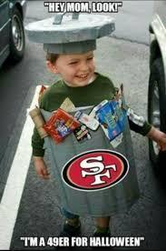 San Francisco 49ers Memes - halloween niner san francisco dallas cowboys love to hate