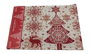 gold star table runner amazon com christmas table runner beautiful red white and gold