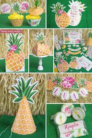 pineapple party printables luau birthday luau invitation