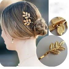 decorative hair pins set of 10 beautiful charming gold leaf bridal hair