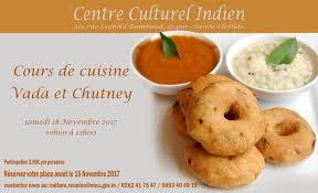 cours de cuisine 15 cours de cuisine vada et chutney 18 novembre 2017 10h00