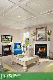 the reverse tray ceiling creates a poignant contrast with the