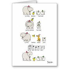 i smiled you hippo birdie two ewe funny birthday greeting card