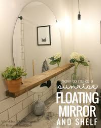 how to make a modern u201csunrise u201d floating mirror shelf