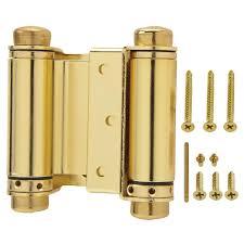 everbilt 3 in bright brass double action spring door hinge 15544