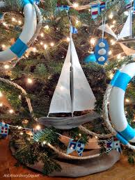 unique ways to decorate a nautical tree burlap tree